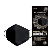 씨엘블랙 KF94 마스크 검정색 대형 방역마스크 1개