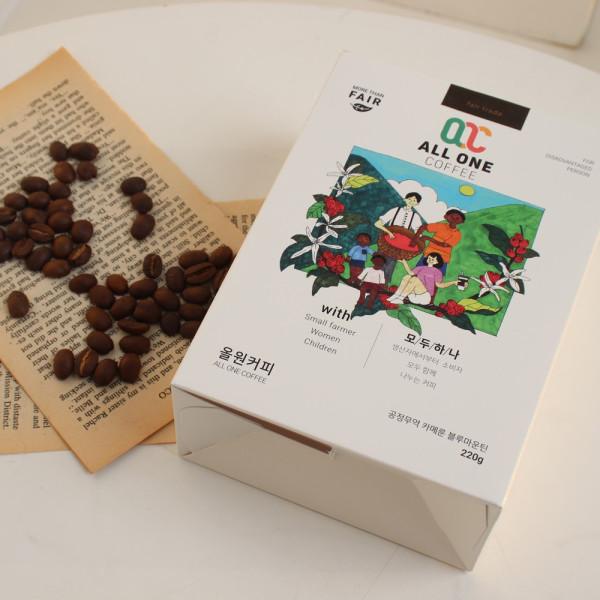 블루마운틴 원두 250g 커피 카메룬 공정무역 직화 로스팅