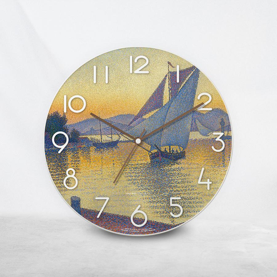 스마트 스토어에서 구입가능한 상품입니다. The Port at sunset  Opus 236, 폴시냐크 (벽시계)