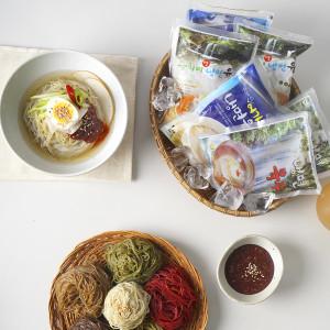 정인유통 함흥 평양 칡 더덕 비트 곤드레 냉면 6종 5인분 1kg