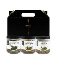 [양양의농부] 장아찌 3종 선물세트 (명이나물, 고추, 셀러리)