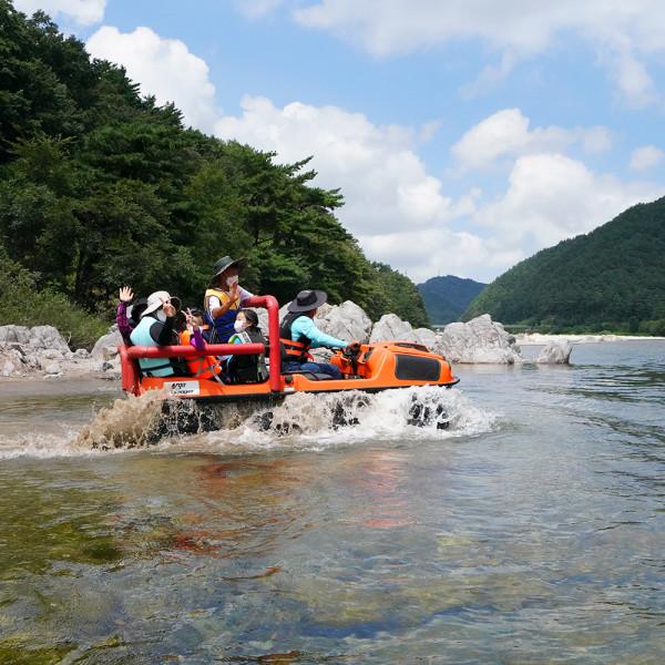 강원 양양 한별마을 익사이팅 수륙양용차 체험
