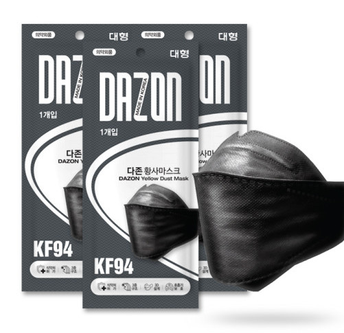 [국산]KF94 다존 숲속공기황사마스크(블랙) - 300장