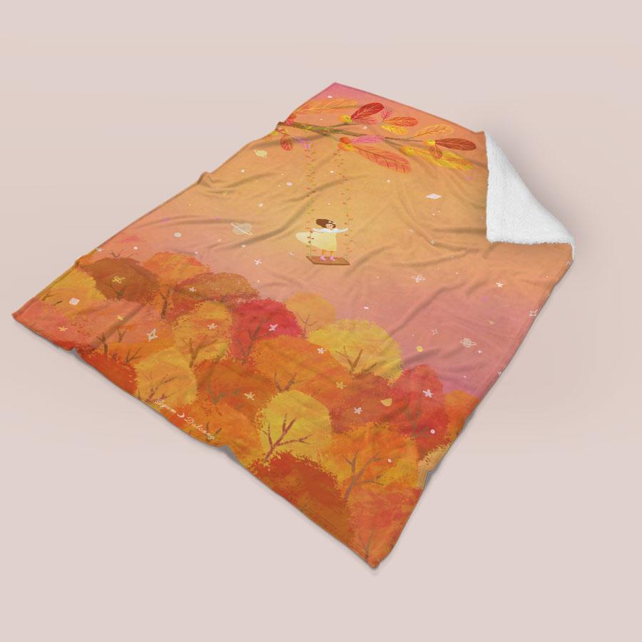 스마트 스토어에서 구입가능한 상품입니다. 스며든 가을, 꿈달콩 (무릎담요, M - L 100x150cm)