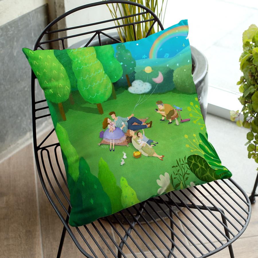 스마트 스토어에서 구입가능한 상품입니다. green picnic, 꿈달콩 (아트 쿠션커버, 벨보아 쿠션커버)