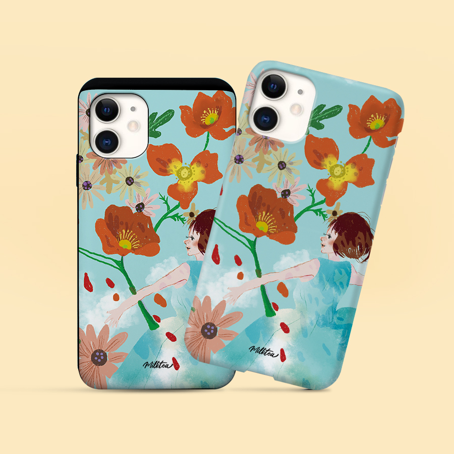 스마트 스토어에서 구입가능한 상품입니다. 꽃을 품다, 밀크티 (폰케이스 6종 아이폰12 갤럭시 S21 출시)