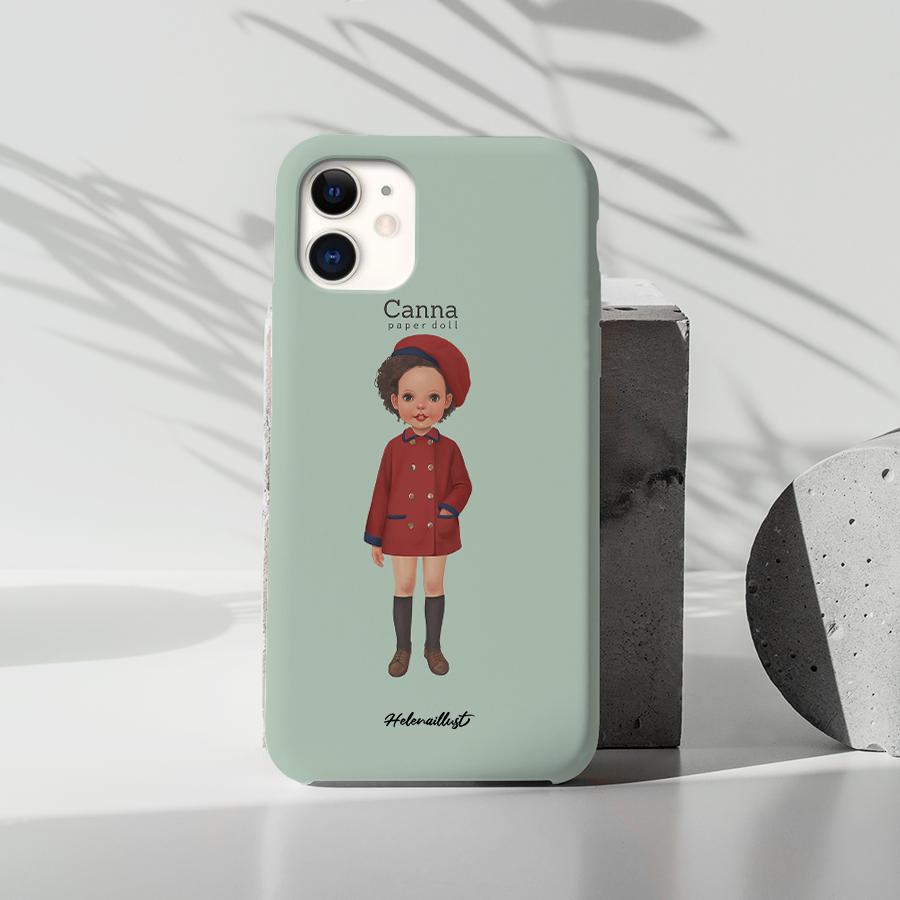 스마트 스토어에서 구입가능한 상품입니다. 종이인형칸나1, 정헤레나 (폰케이스 6종 아이폰12 갤럭시 S21 출시)