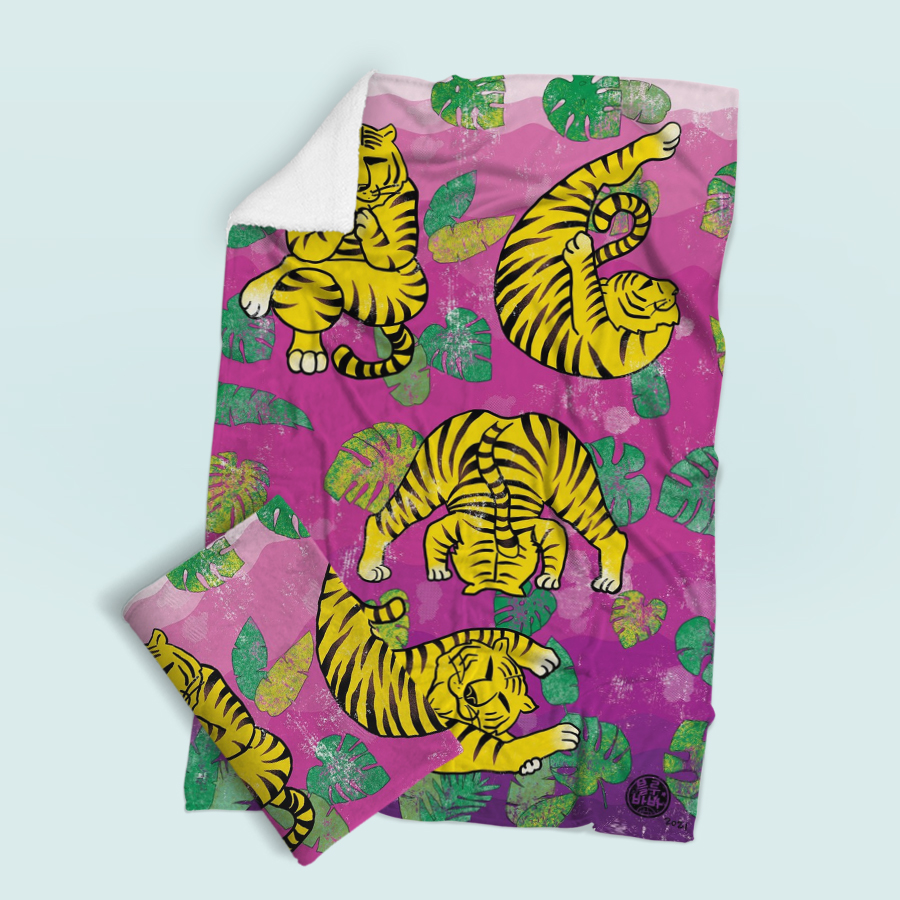 스마트 스토어에서 구입가능한 상품입니다. tiger yogar, 블루바바 (무릎담요, M - L 100x150cm)