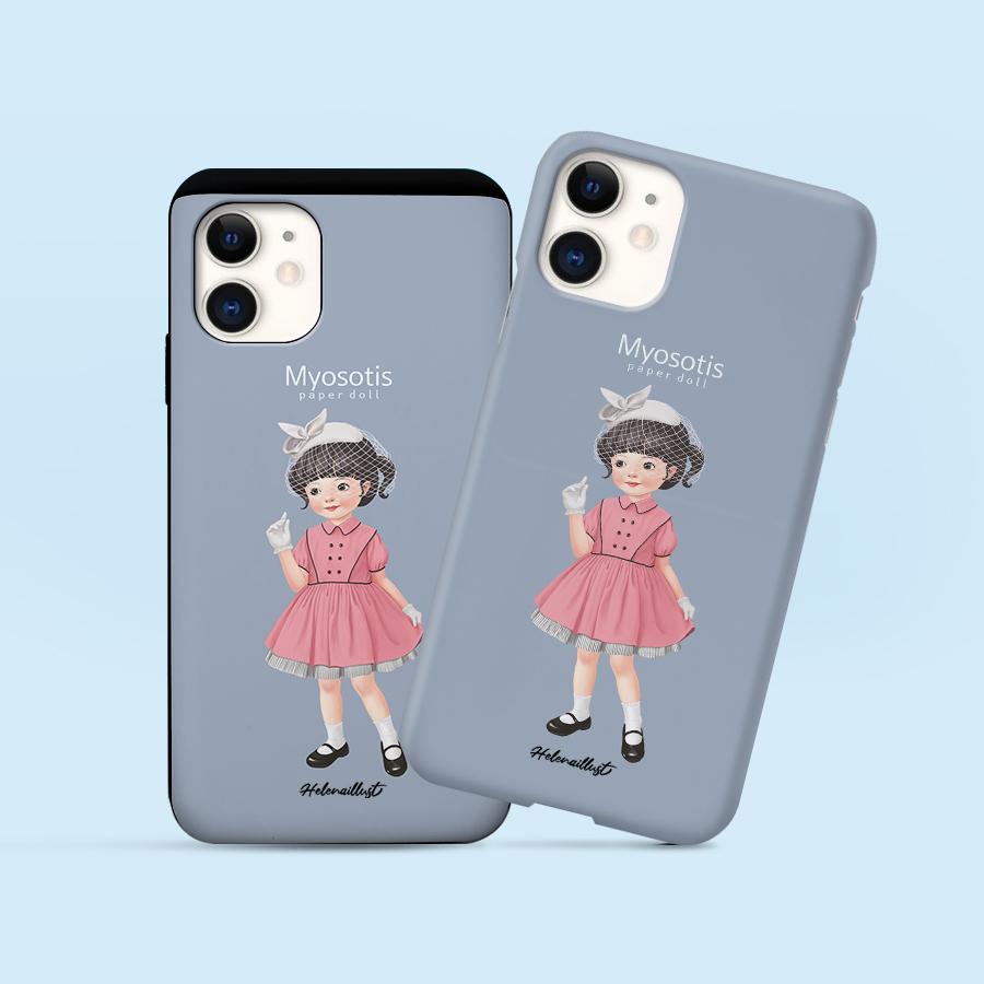 스마트 스토어에서 구입가능한 상품입니다. 종이인형 물망초1, 정헤레나 (폰케이스 6종 아이폰12 갤럭시 S21 출시)