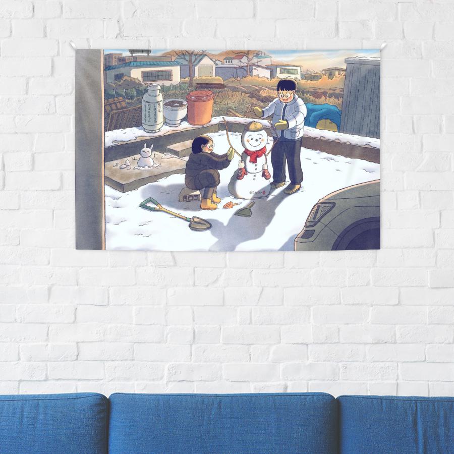 스마트 스토어에서 구입가능한 상품입니다. 눈사람 만_들기, 달솜 (종이 포스터, 300x200 - 900x600mm)